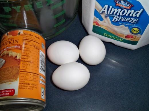Almond milk replaces cow milk in this recipe.