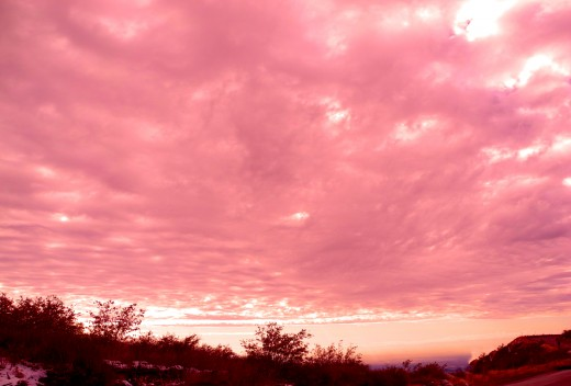 a gift of roses in the sky..Crestline, Ca.