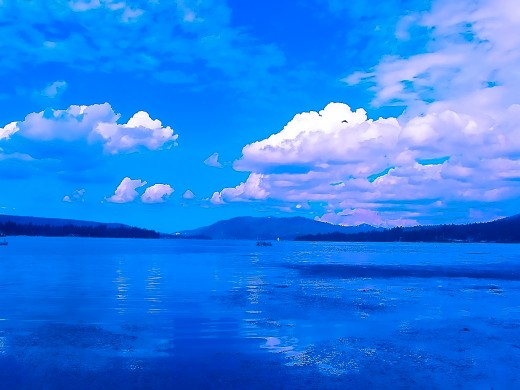 Summer Clouds over Big Bear Lake..the start of a wonderful day..