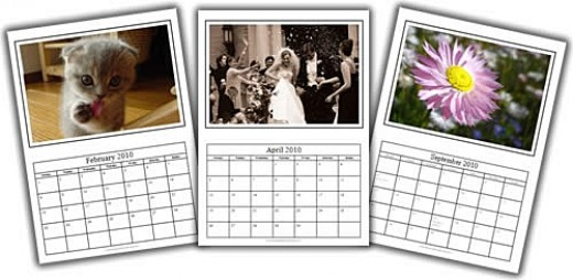 Photo Calendars, source Homemade Gifts Made Easy