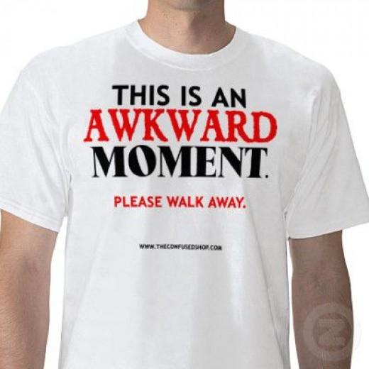 Awkward moment t-shirt