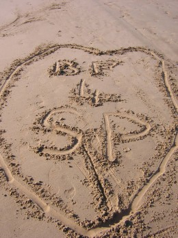 Not just written in the stars, but written in the sand as well!