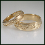 wedding bands from Green Karat that use recycled gold