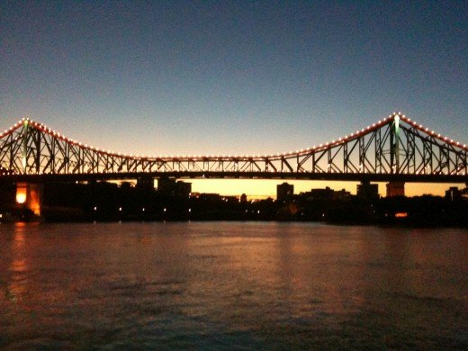 IMAGE 3 Story Bridge Brisbane at Dawn 5.25 am Using IPhone 3GS