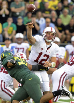 Luck has struggled the last two weeks (in Heisman standards) losing to Oregon and barely slipping past Cal