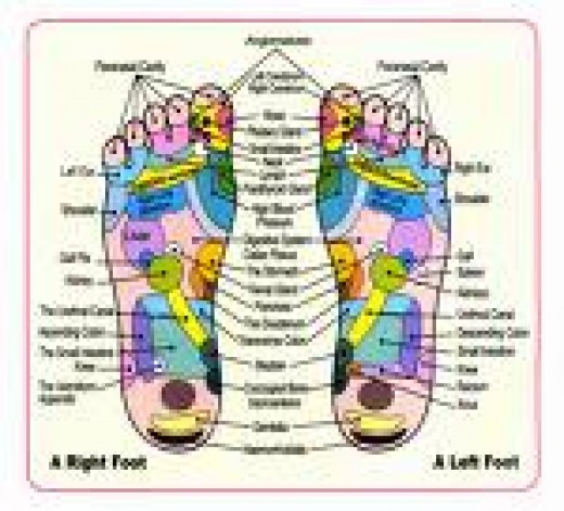 map of the feet