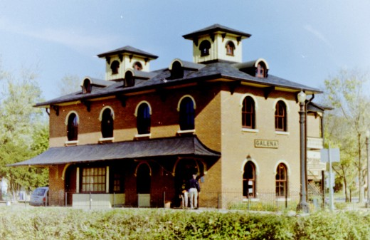Old Train Depot in Galena, Illinois