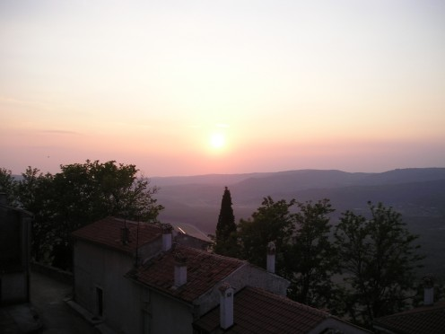 Sunset, Motovun.