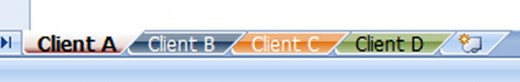 The 4 tabs for 4 clients that we look at in this article