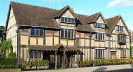 John Shakespeare's house, believed to be Shakespeare's birthplace, in Stratford-upon-Avon.