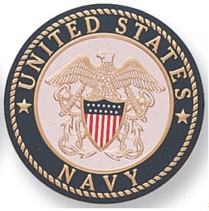 Official seal of the US Navy, celebrating their 233rd birthday