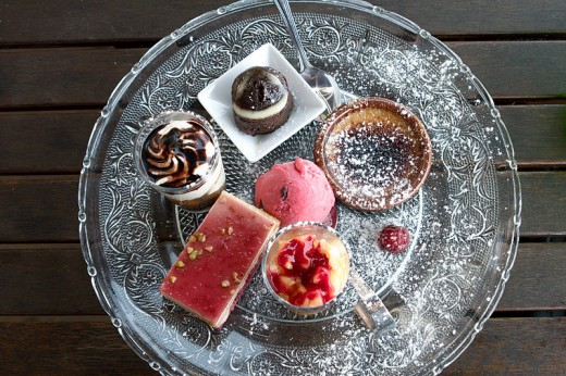Small portioned French Desserts