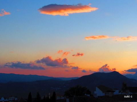 A beautiful sunset.