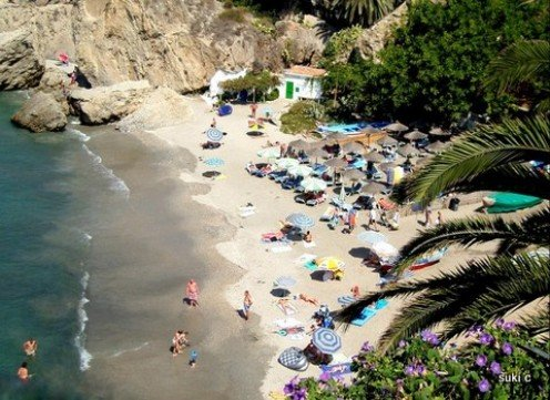 One of the lovely beaches at the town of Nerja