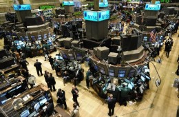 A picture of the floor of the New York Stock Exchange (NYSE)