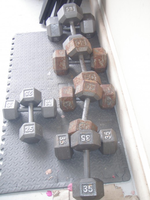 Plain ol' hex dumbbells