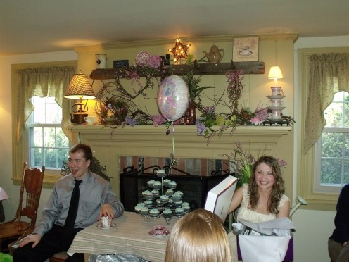 My husband and I both went to the bridal shower, contrary to popular belief weddings are not all about the bride!