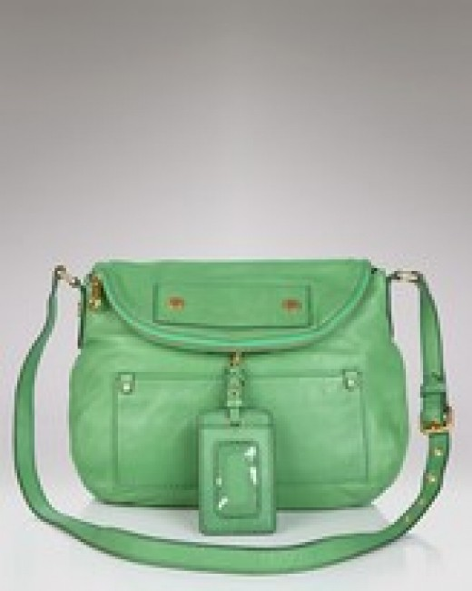 Marc by Marc Jacobs Preppy Leather Natasha Crossbody Bag Purse~Green New