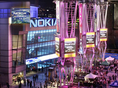 Part of the new, L.A. Live, The Nokia Theater