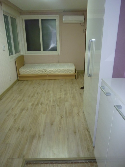 This was my first apartment. I think this picture makes it look bigger than it was.  It was very, very small.