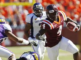 RB David Wilson (Virginia Tech) '11 stats 231att 1442yds 7td/17rec 107yds 1td