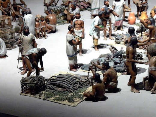 Reconstruction of the busy Aztec Market