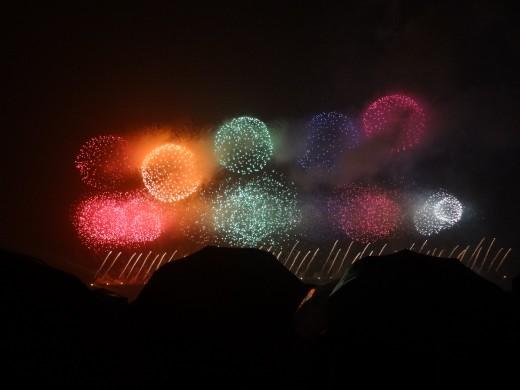 Gwangalli International Fireworks Festival at Gwangalli Beach in October
