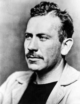 John Steinbeck: 'A man on a horse is spiritually, as well as physically, bigger than a man on foot'
