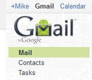 (Once logged into gmail you'll see this) excluding the Android logo, located at top left corner.