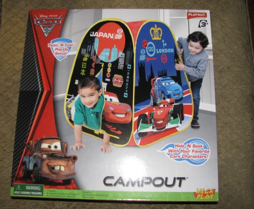 Cars 2 Campout Pop-Up Tent