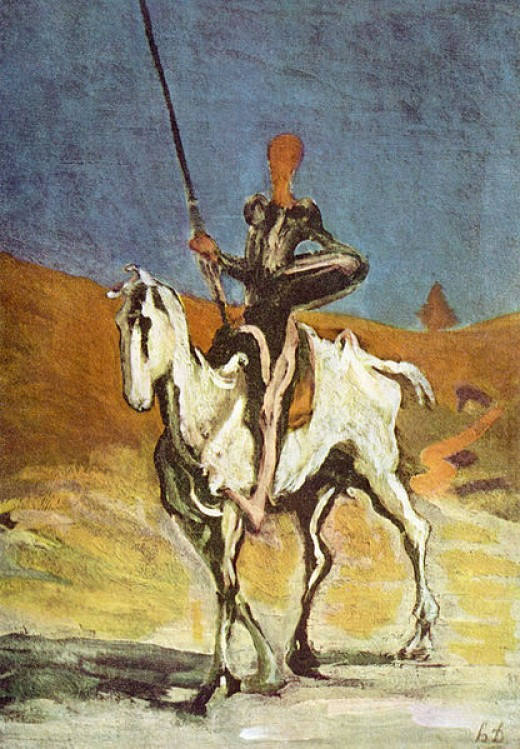 Don Quijote and Sancho Panza, drawn by Honoré Daumier,
