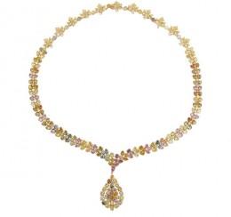 multi-colored diamond necklace