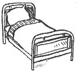 A bed...