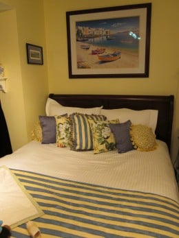 Although tasteful and appealing, this bedroom may not be restful and relaxing.