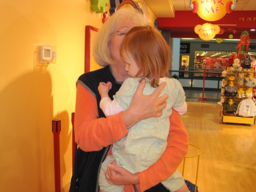 Hugs and kisses at Build a Bear.