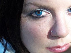 My eyes are dark brown, this is sapphire blue contacts I'm wearing. See how they do in fact work well on brown eyes.