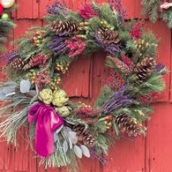 A wreath on my door completes Christmas decorating every year.