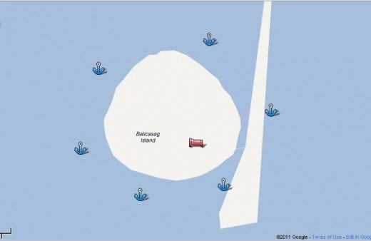 Balicasag Dive Google map by munchwaffle