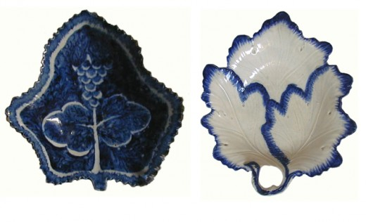 Pickle dishes: Bow porcelain & pearlware