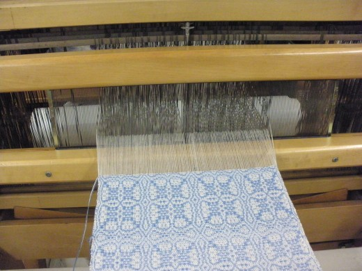 A weaving project in process at the Cultural Arts Center in Columbus, Ohio.