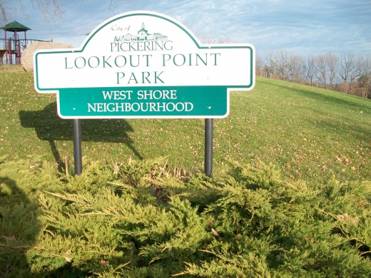 Lookout Point Park signage detail, Pickering, Ontario