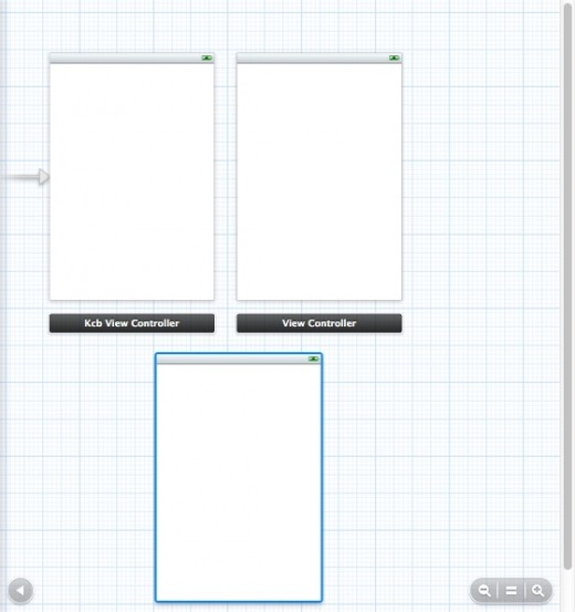 Figure 4: Drag onto Storyboard workspace and create two extra View Controllers