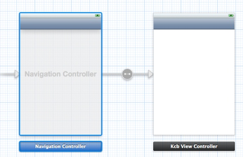 Figure 7: The newly created Navigation Controller and Connection.