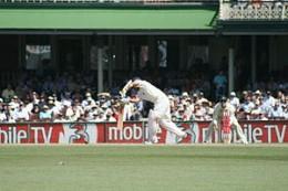 Tendulkar plays a wristy leg-side flick