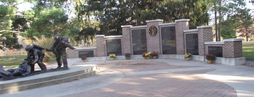 Firefighters memorial wall. It si somewaht along the lines of the Viet Nam veterans wall.