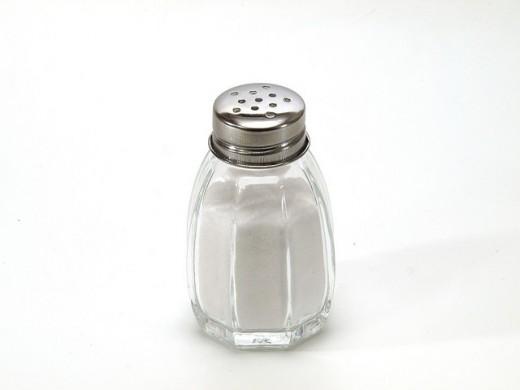 Put the salt shaker away to reduce salt in your diet.