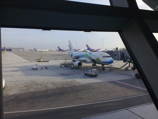 Thought The Bangkok Airlines plane was quite colourful !