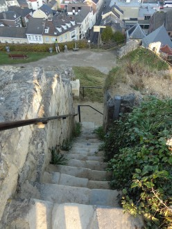 Steps at Valkenburg Castle