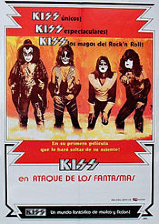 "Columbian poster for the theatrical release of ""KISS Meets the Phantom."""