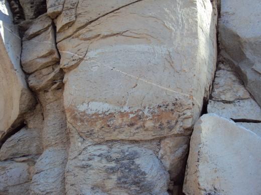 Rocks on the hillside.